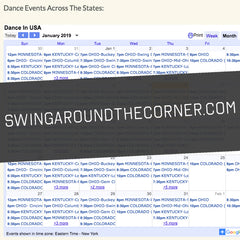 swing around the corner website for USA dance events and festivals