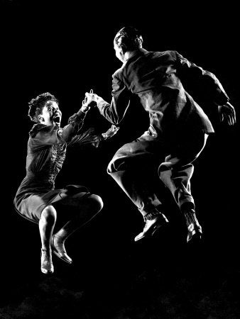 wild swing dance expressions, lindy hop faces are animated and comical