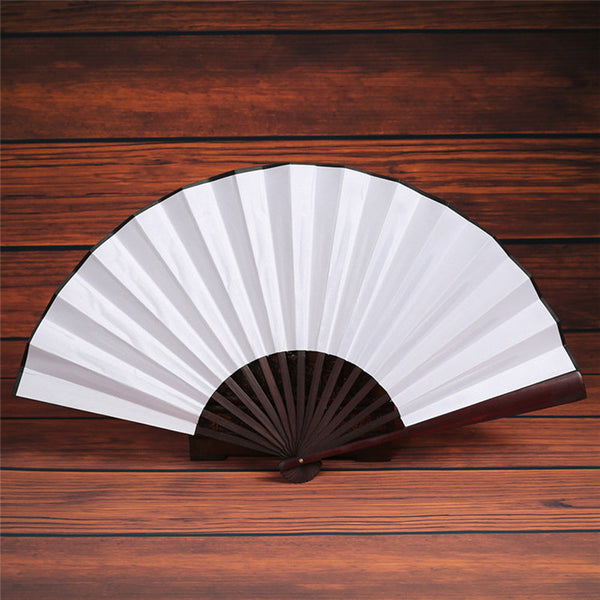 Large Solid-Color Hand Fan