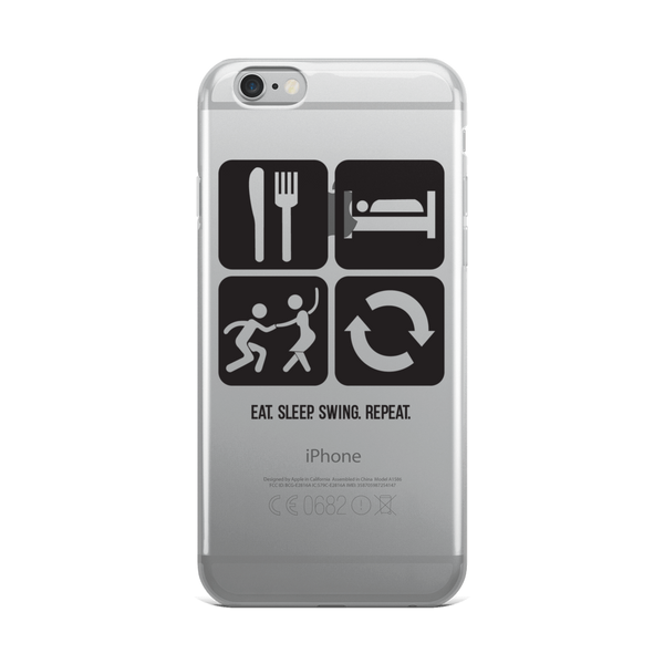 Eat. Sleep. Swing. Repeat.: iPhone Case