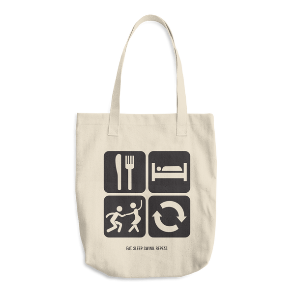 Eat. Sleep. Swing. Repeat.: Cotton Tote Bag