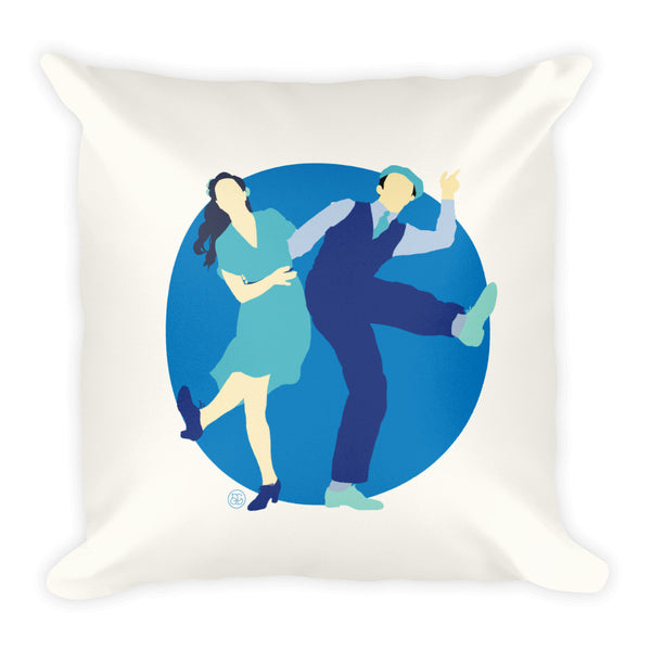 Lindy Hop throw pillow for your home decor! Features swing dancing and lindy hop design.