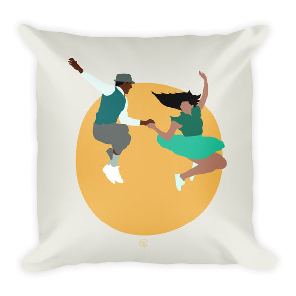 Lindy Hop throw pillow for your home decor! Features a swing dancing design.