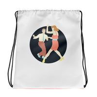 Lindy hop drawstring bag. The best high quality bag for swing dancers!