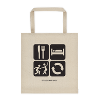 Eat. Sleep. Swing. Repeat.: Large Tote Bag