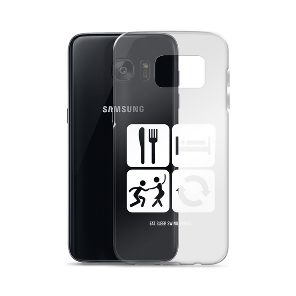 Eat. Sleep. Swing. Repeat.: Samsung Case