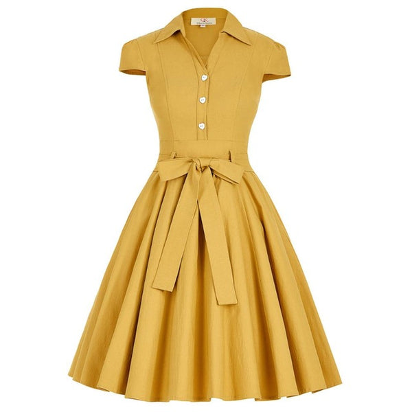 1950's Cotton Swing Dress