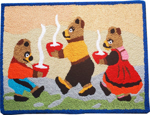 Three Bears Kids Winter Wild Handcrafted Accent Rug