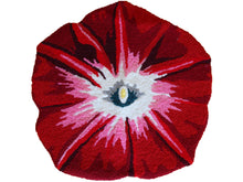 Load image into Gallery viewer, Red Morning Glory Handmade Rug - Polly Tadpole