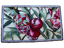Load image into Gallery viewer, Pomegranate fruit With Leaves & Buds Handmade Rug - Polly Tadpole