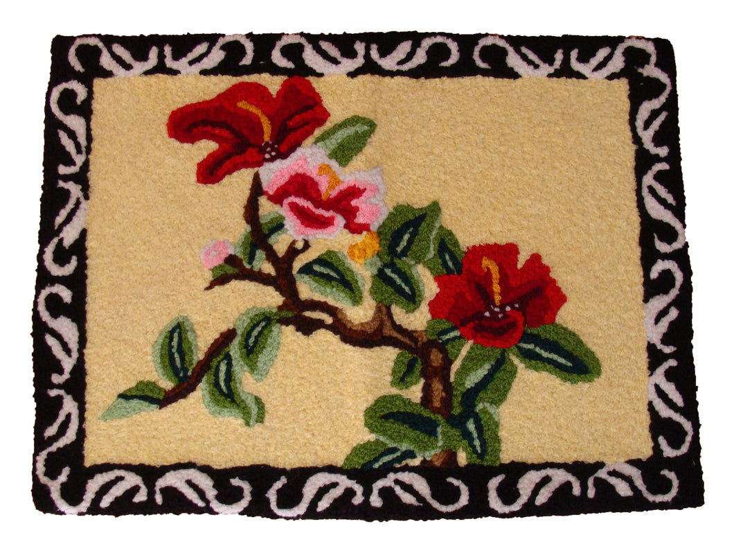 Flowering Tree Branch handmade Area Rug - Polly Tadpole