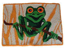 Load image into Gallery viewer, Tree Frog Handmade Accent Rug - Polly Tadpole