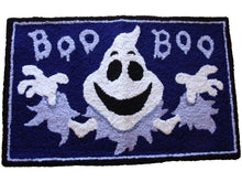 Load image into Gallery viewer, Halloween Spooky Ghost Boo Handmade Area Rug - Polly Tadpole