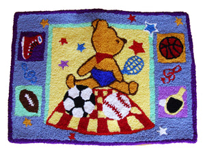 Kids Bear Handmade Area Rug - Polly Tadpole