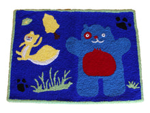 Load image into Gallery viewer, Blue Halloween Handmade Area Rug - Polly Tadpole