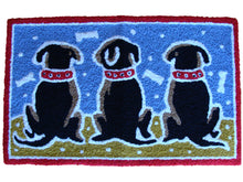 Load image into Gallery viewer, Three Sitting Dogs Rug - Polly Tadpole