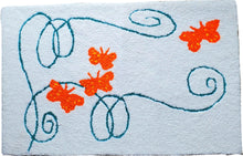 Load image into Gallery viewer, Butterfly Trail Swirls Handcrafted Accent Rug