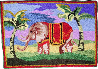 A Great Elephant of India Handmade Accent Rug