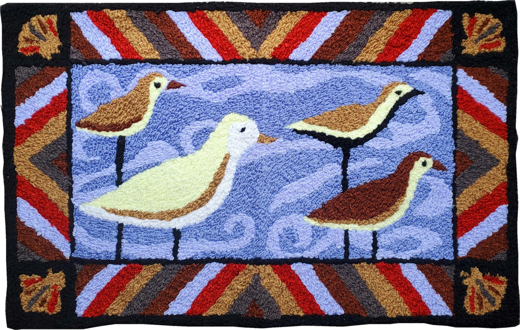 Seagull Sea Birds Ocean Handcrafted Accent Rug