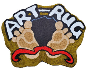 Bear Footprint Handcrafted Accent Rug