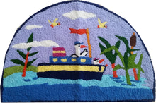Load image into Gallery viewer, Sea Safari Handmade Accent rug - Polly Tadpole
