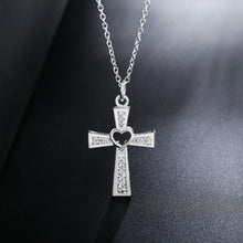 Load image into Gallery viewer, Sterling Silver I Love Jesus Cross Necklace