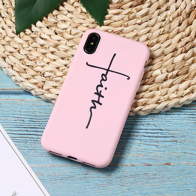 Faith Hard Silicone iPhone Case