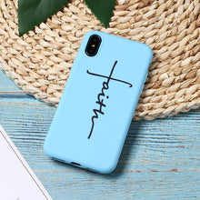 Load image into Gallery viewer, Faith Hard Silicone iPhone Case