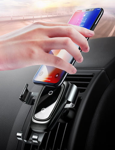 Wireless Car Charger & Holder for iPhone + Android