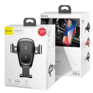 Wireless Car Charger and Holder / Mount for iPhone + Android Phones