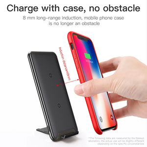 Wireless Charging Stand for iPhone & Android - 10W Qi Fast Charging