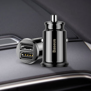 Mini Car Charger For iPhone Samsung Xiaomi mi 3.1A Fast Car Charging Dual USB Car Charger Adapter Mobile Phone Charger