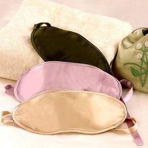 SILK FILLED EYE MASKS WITH <strong><i>TIE CLOSURE</strong></i>