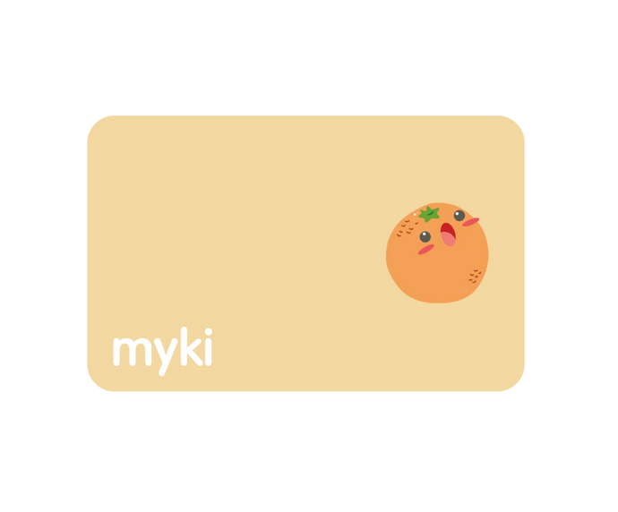 Orange Transit Sticker With Myki Logo