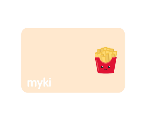 French Fries Transit Sticker With Myki Logo