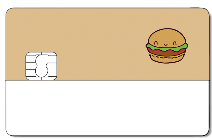 Credit Card Sticker - HAMBURGER