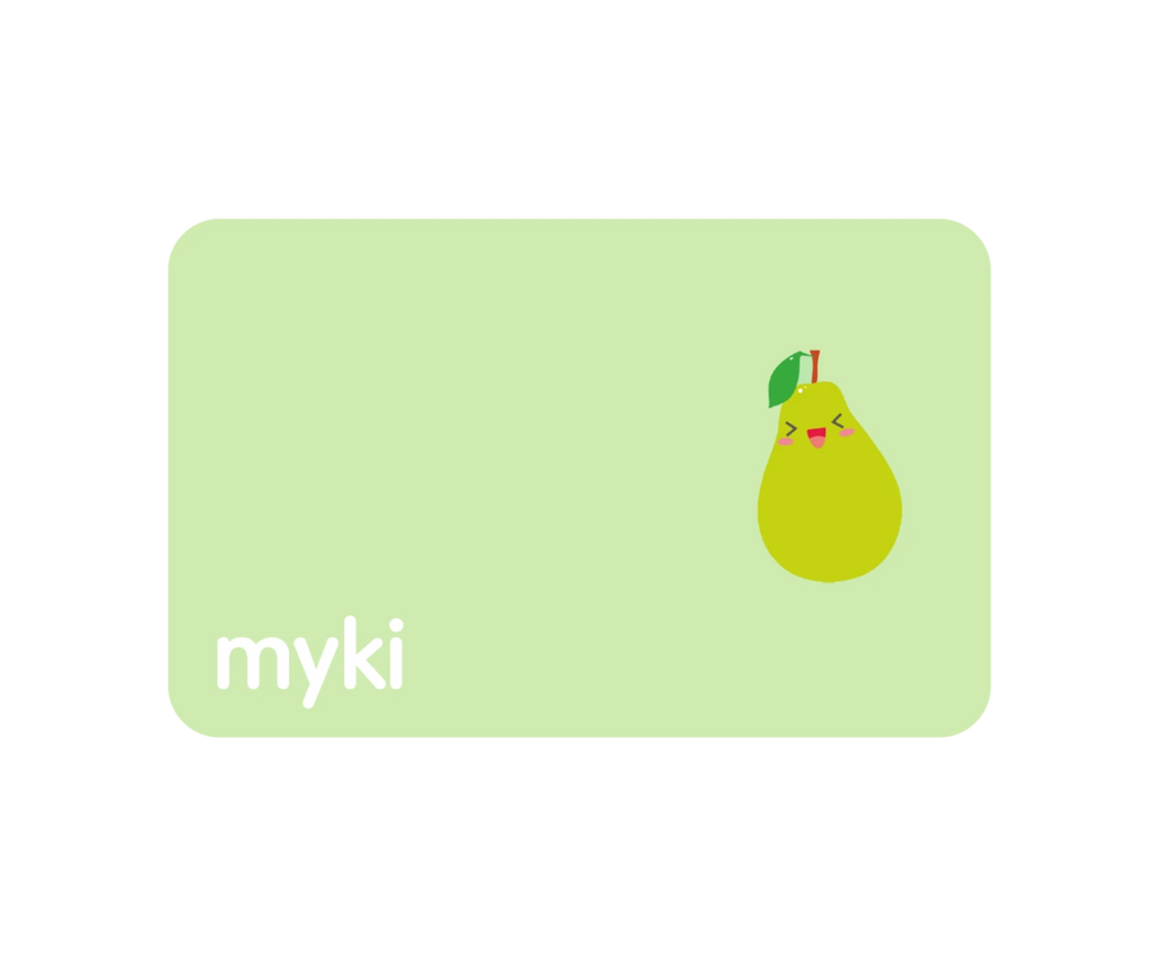 Pear Sticker With Myki Logo