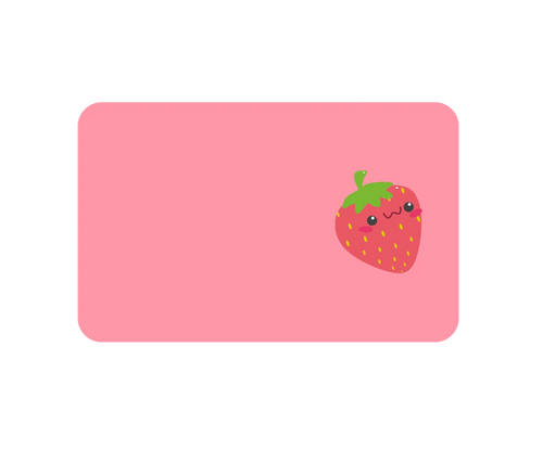 Strawberry Sticker No Myki Logo