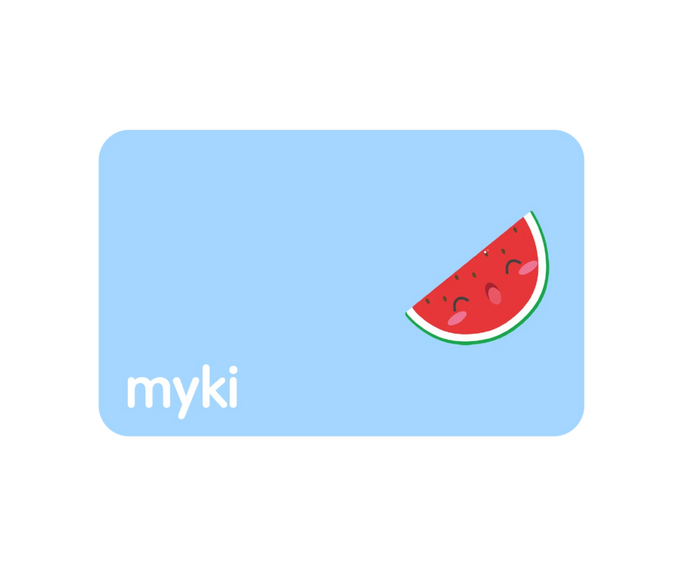 Watermelon Sticker With Myki Logo