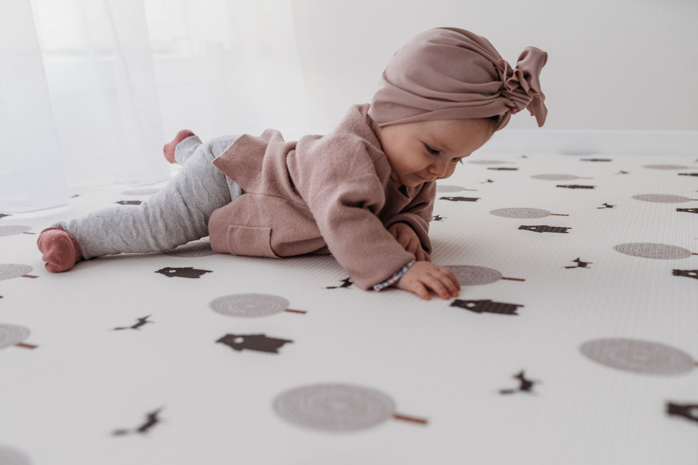 Play mat; Grey Run Forrest Foam Playmat