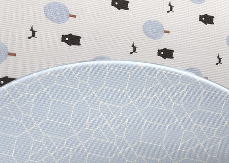 Run Forrest: Baby Blue Round Playmat