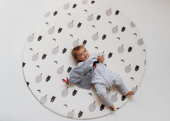 Run Forrest: Grey Round Playmat