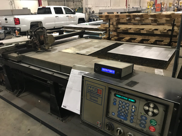MG Industries SE1006 6' x 14'  Plasma Cutting Table, 1994, CNC, Thermal Dynamics Plasma Source, Burny 2.5 CNC Control