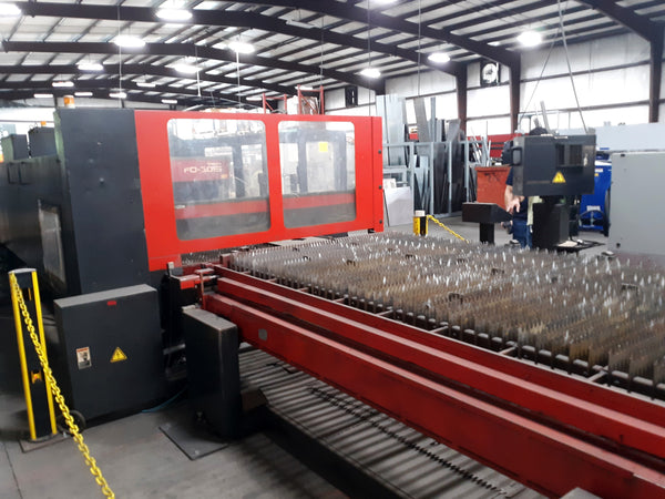 2003 Amada FO 3015 4,000 Watt Dual Hydraulic 10 x 5ft. Tables CO2 Laser