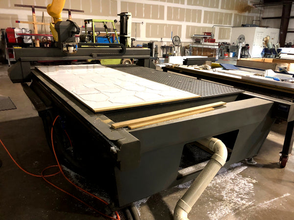"2005 80"" x 122"" Multicam 3000 Series 3-304-R CNC Router, 25,000 RPM"