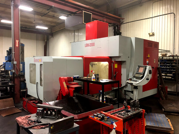 2005 Eumach LBM-2000 CNC High Speed Bridge Type CNC Vertical Machining Center