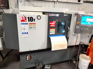 2017 Haas ST-10Y CNC Lathe - Live Tooling, Bar Feed, Parts Catcher
