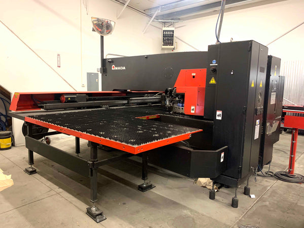 2012 Amada AE 2510 NT CNC Turret Punch - 22 Ton, Brush Table, 45 Station