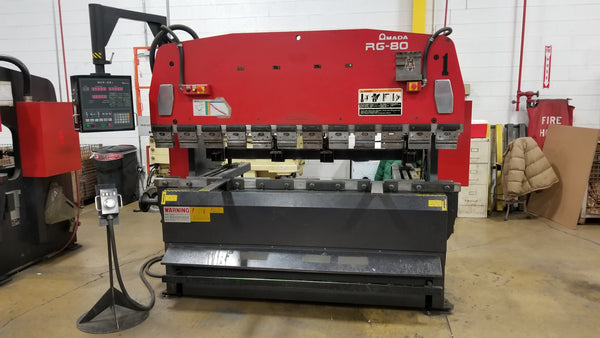 88 Ton x 8' Amada RG-80 CNC Press Brake, 1999 - NC9-EXII Control