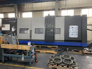 Hwacheon Hi-Tech 850BBL YMC CNC Lathe, 2014 - Y-Axis, Live Tooling, C-Axis, Steady Rests